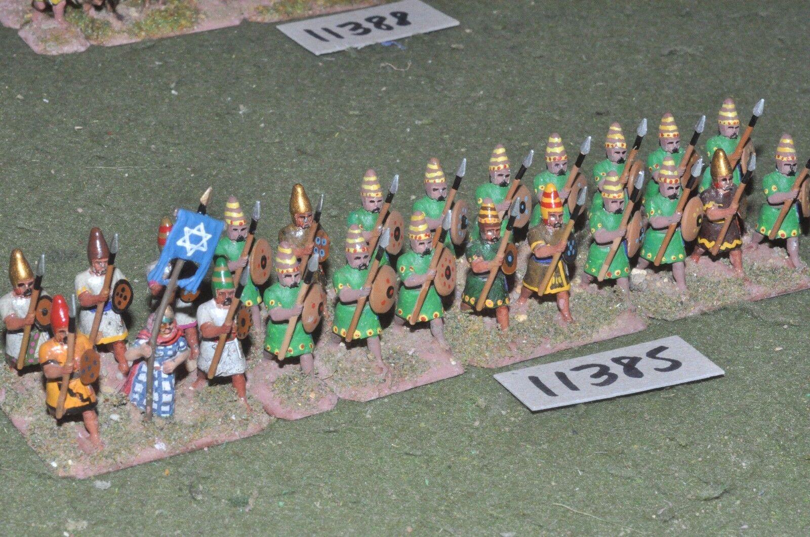 25mm biblical   hebrew - spearmen 24 figures - inf (11385)