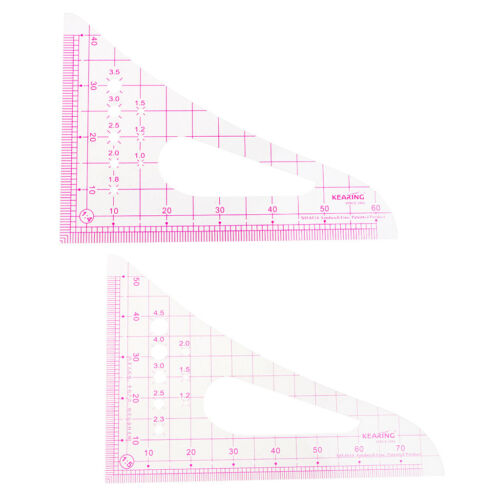 Multi-Function Triangle Metric Ruler Measure Sewing Dressmaking Tailor Tool