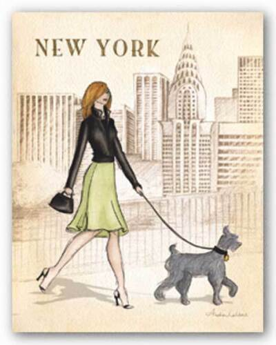 New York Andrea Laliberte Art Print 11x14