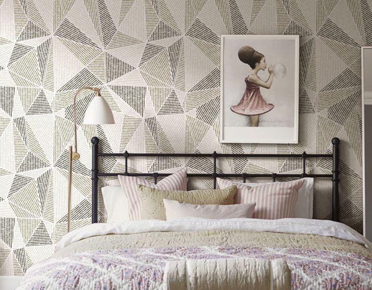 3D Minimalist Geometry Wand Papier Wand Drucken Decal Wand Deco Innen Wand Murals