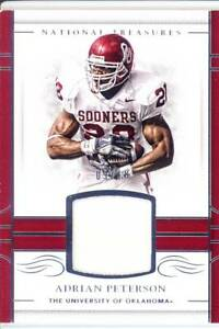 Details about adrian peterson game used gu jersey patch oklahoma sooners ou college worn #/10