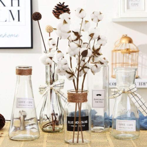Las flores secas de algodón natural vástago Hazlo tú mismo casa estilo nórdico Fiesta Decoración ramo de venta