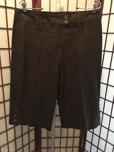 Cato Capri Pants With Macrame Belt Women/'s Size 14 Brown Linen//Cotton NEW