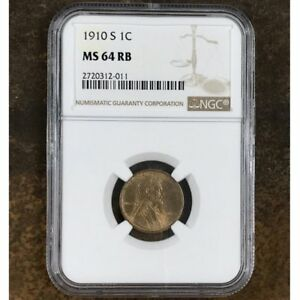 1910-S-Lincoln-Cent-NGC-MS64-RB-Rev-Tye-039-s-2011175