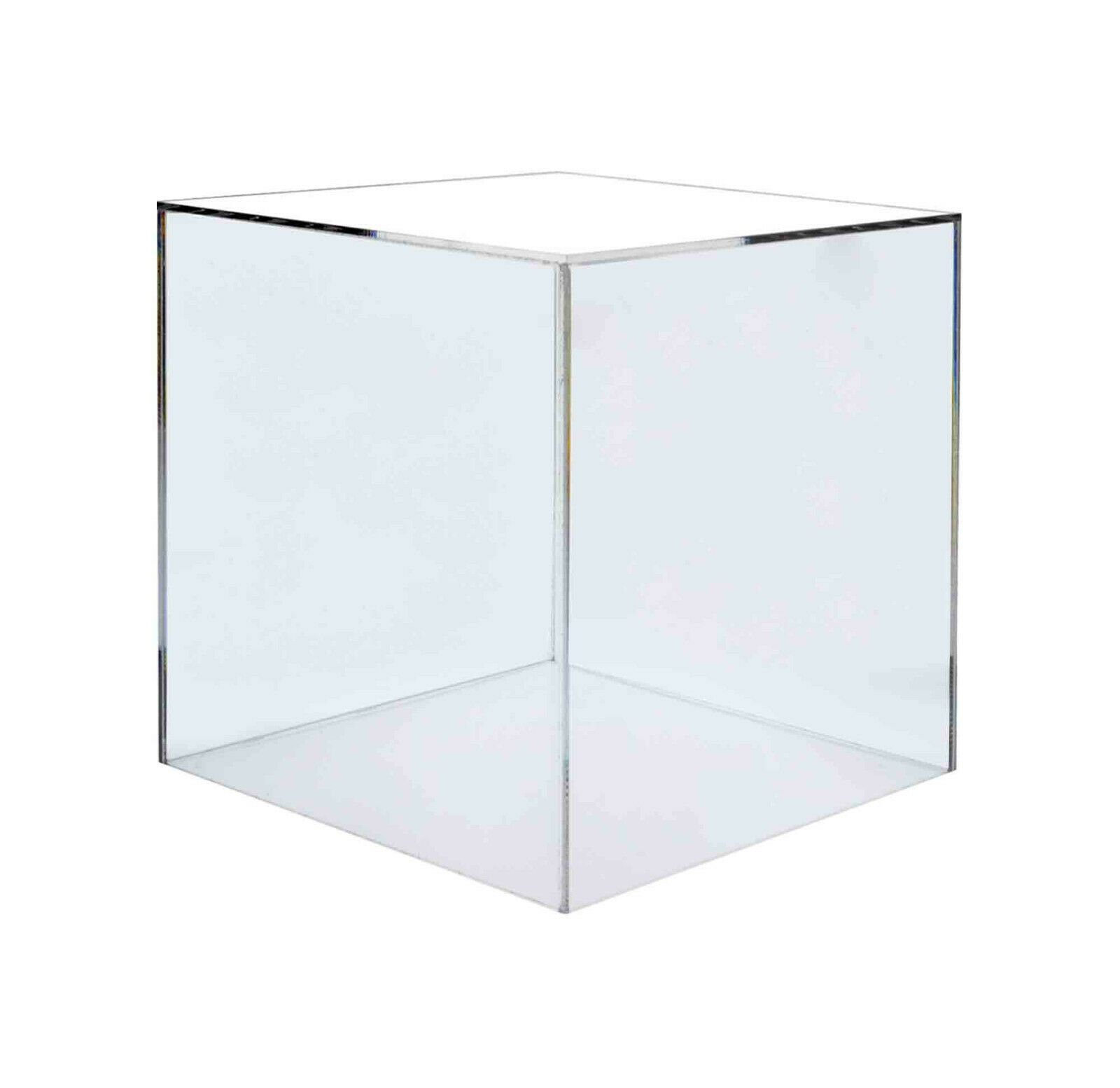 12  Jewelry Cube Riser Display Box  5 Sided Cover Stand Pedestal in Clear