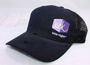 59f4864a7e9 JACK IN THE BOX Late Night Worker Black Trucker Snapback Hat Cap ...