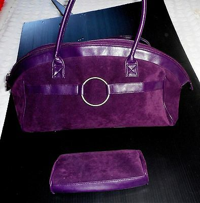 Estee Lauder Plum /Purple Zip Closure Travel Duffle Bag & Cosmetic Bag Reduced!