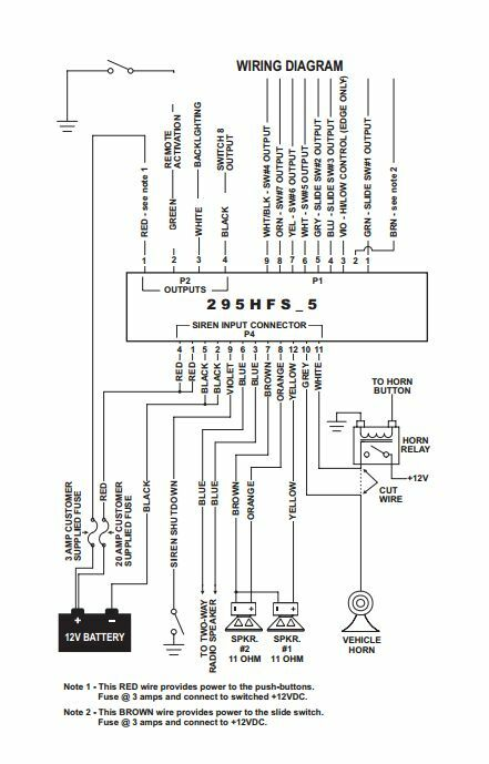 whelen 295hfsa5 wiring diagram