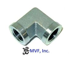12 Female Npt X 14 Female Npt 90 Elbow Plated Steel Hydraulic Lt5504 08 04