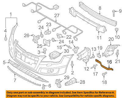 AUDI OEM A7 Quattro Front Bumper Grille Grill-Support Brace Left 4G8807591C