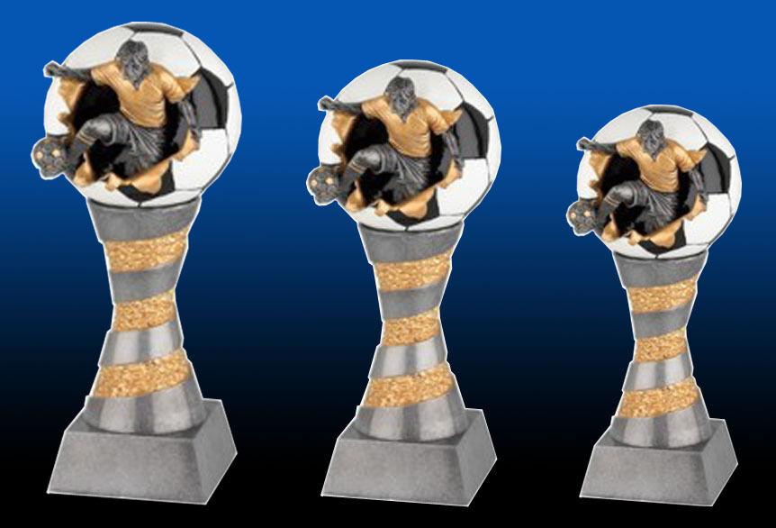 3er Serie Fußballtrophäen  incl.Gravuren