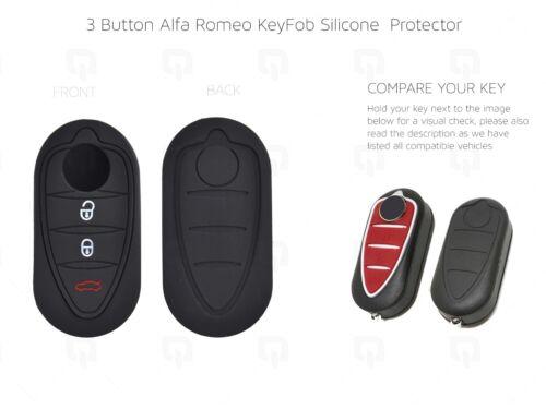 Alfa Romeo 3 botón//Smart//KEY//Funda//Estuche Protector fob remoto silicona Mito//159