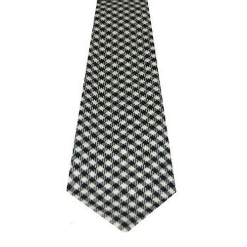 Shepherd Tartan Tie 100/% Wool Lochcarron of Scotland Black and White Check Tie