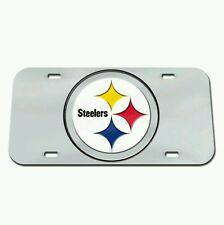 PITTSBURGH STEELERS CRYSTAL MIRROR CAR LICENSE PLATE BRAND NEW FREE SHIPPING!