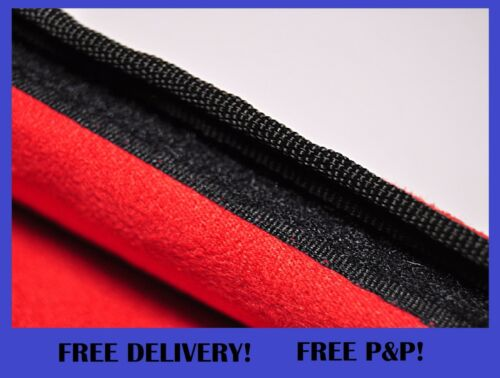 Seat Belt Pads Harness Cushioned Safety Shoulder Strap Cover Red