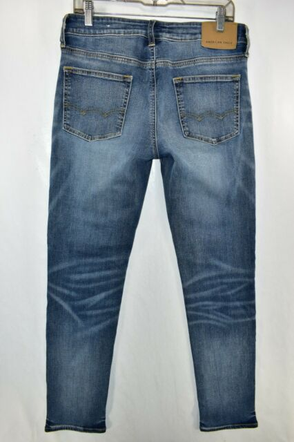 American Eagle Skinny Next Level Flex Jeans Mens Size 32x32 Blue Meas. 31x31