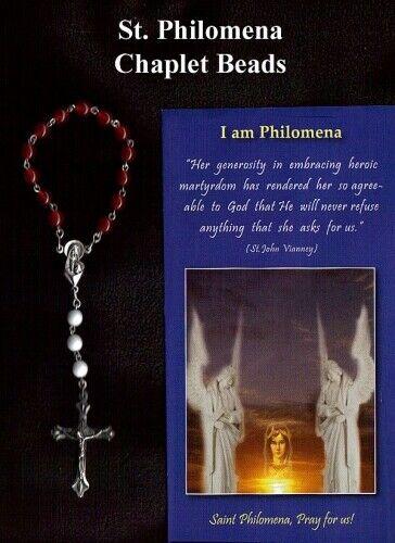 2019 úLtimo DiseñO St. Philomena Chaplet Rosary Beads For Children Teenagers Confirmation Gift Buenos CompañEros Para NiñOs Y Adultos