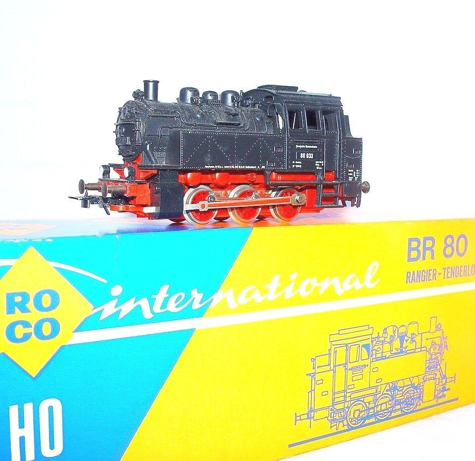 Roco HO 1 87 alemán Dragonball BR-80 pequeña caja mal Negro Locomotora de vapor casi como nuevo`78  Excelente