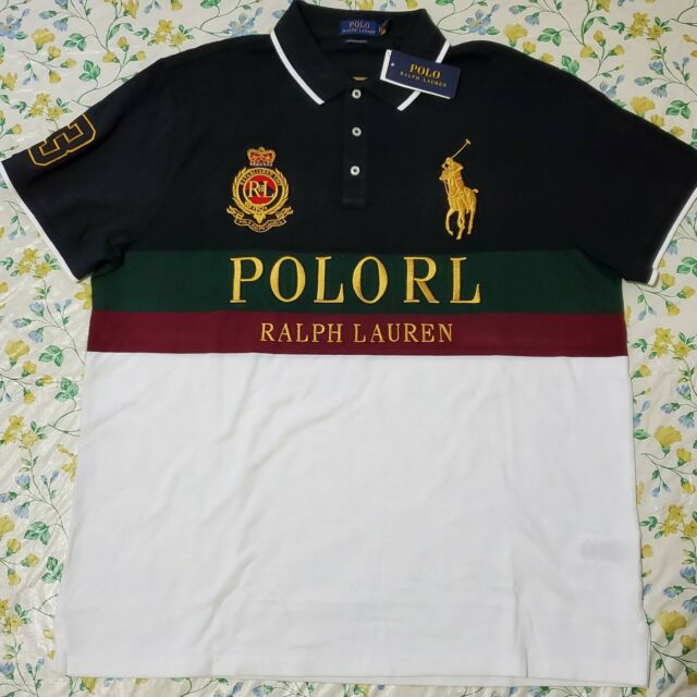 NWT RALPH LAUREN HAWAIIAN shirt 100/% cotton ss mens polo BIG /& TALL 2XB 3XB