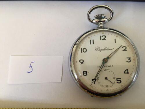 Montre Gousset ancienne Régulateur en métal à réviser ou pour pièces