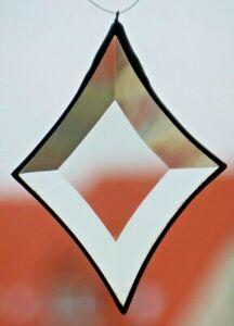 Bleiverglasung Fensterbild Suncatcher Facetten- Rhombus 12,5x12 in Tiffany