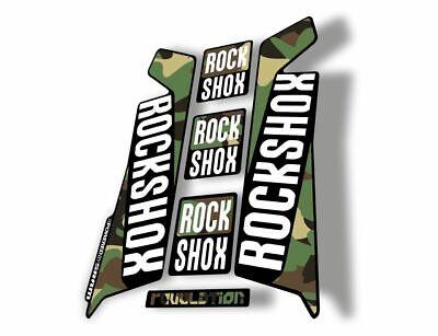 Rock Shox REVELATION 2013 Mountain Bike Cycling Decal Kit Sticker Adhesive Camo