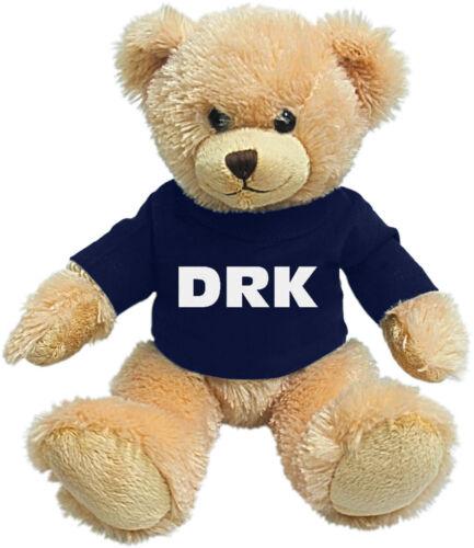 Teddybär Kuschelbär 26 cm Teddy mit blauem Shirt DRK 27152