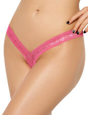 New Pink Lace V-shape Micro Thong G-String Stripper Wear Lingerie Size 10-12