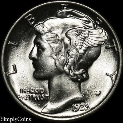 1945-S Mercury Silver Dime ~ GEM BU Uncirculated ~ US Coin MQ