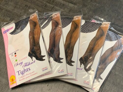 Black Fishnet Stockings Tights Secret Wishes Lot Of 5 Free Shipping
