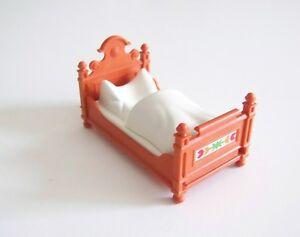 Détails sur PLAYMOBIL (J283) EPOQUE 1900 - Lit Orange Couverture Blanche  Chambre Parent 5319