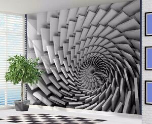 Image Is Loading Cool 3D Optical Illusion Swirl Stone Slabs Wallpaper