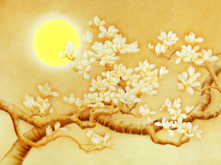 3D Goldene Mond Blaume 73 Tapete Wandgemälde Tapete Tapeten Bild Bild Bild Familie DE Lemon | Reichlich Und Pünktliche Lieferung  | Creative  | Praktisch Und Wirtschaftlich  fd95d1