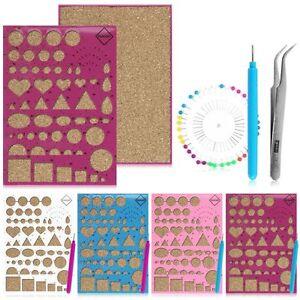 Paper DIY Set Quilling Tools Template Mould Board Tweezer ...