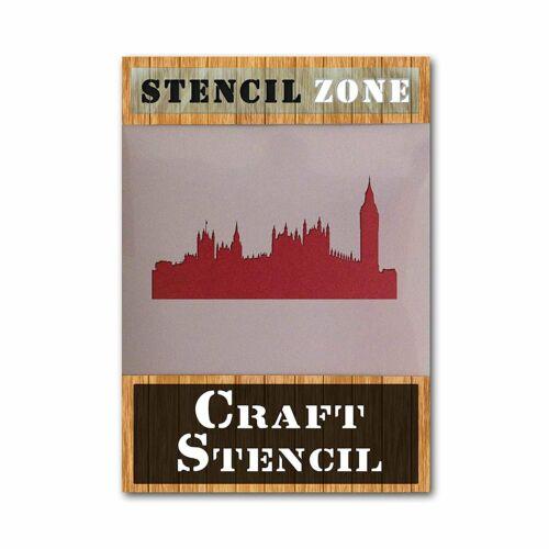 London City MYLAR airrush dipinto WALL ART STENCIL