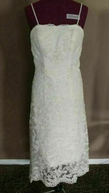 Alfred Angelo Wedding Dress Style 1774nt Size 8 With Veil Beautiful For Sale Online