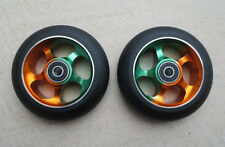 DIS 100mm Rasta 5-Spoke Metal Core Scooter Wheels [2 wheels]- w/ABEC-11 Bearings