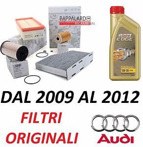 KIT TAGLIANDO OLIO ADDITIVI KIT 4 FILTRI AUDI A3 8V 1.6 2.0 TDI DAL 2012