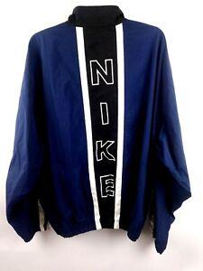 0ea34ba4bebd5 Nike Mens XL Vintage Nylon Windbreaker Jacket Blue White Color Block ...