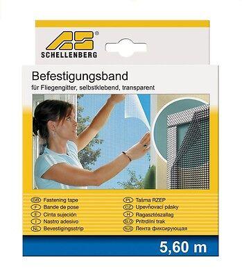 Schellenberg Befestigungsband transparent 5,6m Polyestergewebe NEU