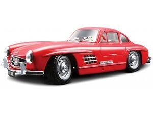 Mercedes-Benz-300-SL-1954-1-24-Coche-Nuevo-Modelo-Die-Cast-Metal-Modelos-Cars-Diecast