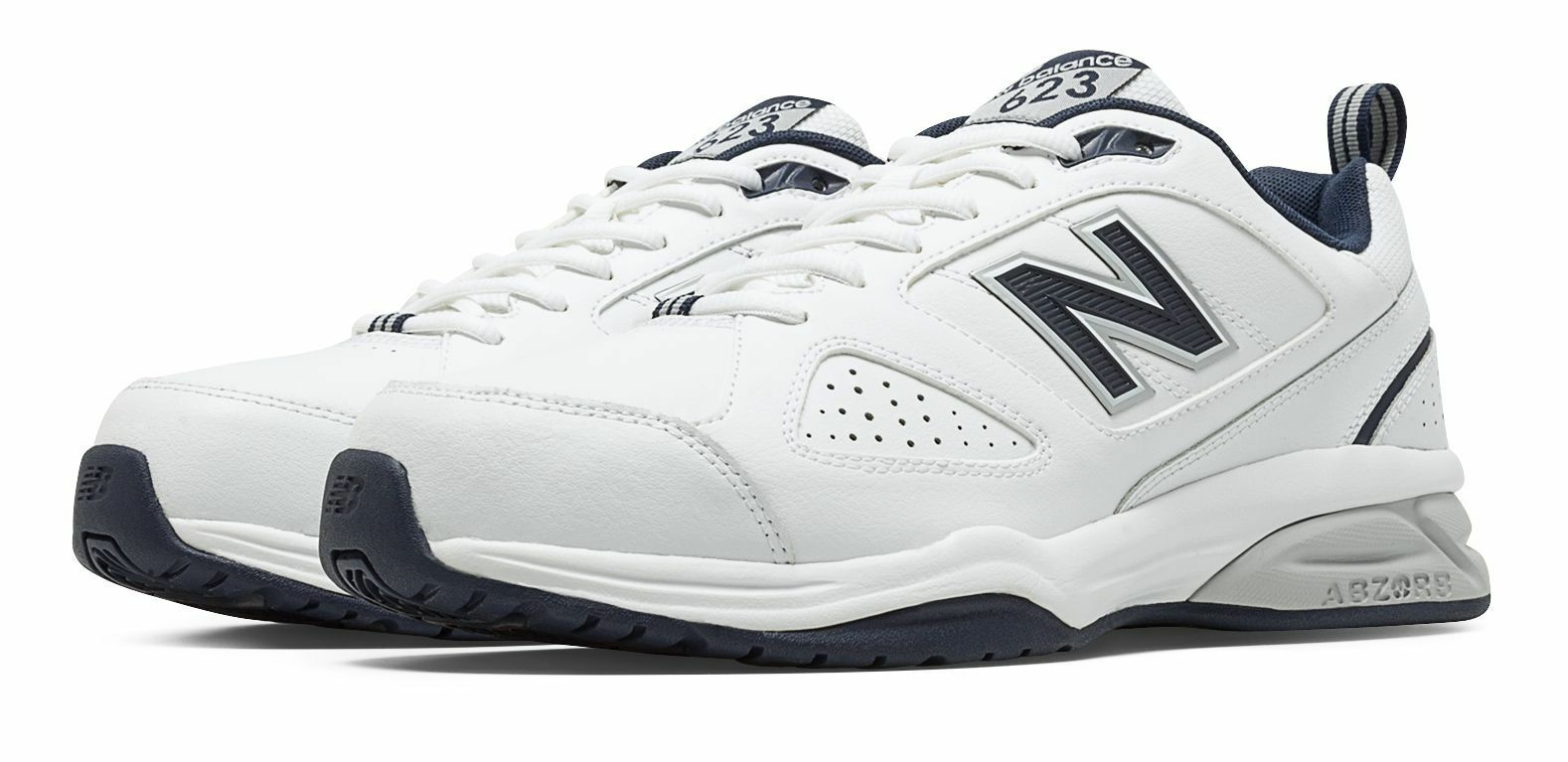New Balance hommes 623v3 Trainer Chaussures blanc with Navy