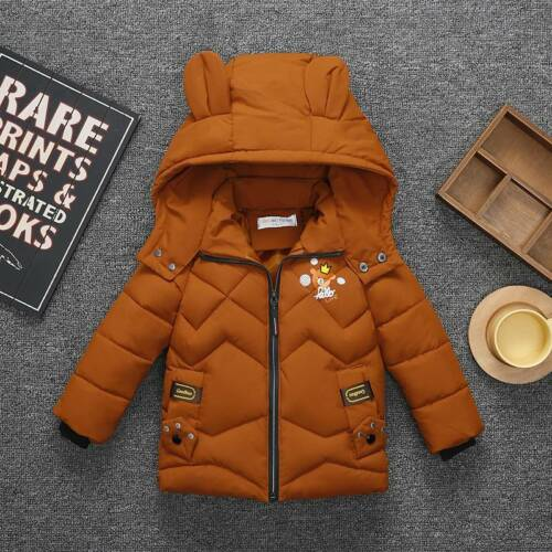 Girl Winter Kids Boys Hooded Warm Quilted Puffer Coat Jacket School Trendy Parka