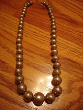 Vintage Navajo Sterling Silver Graduated Ball Bead Necklace