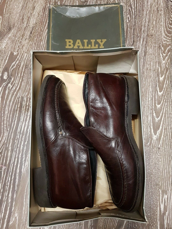 "BALLY Glattleder Herrenschuhe Halbschuhe Adams, Größe 7,5 braun Glattleder BALLY ""ADAMS-13"