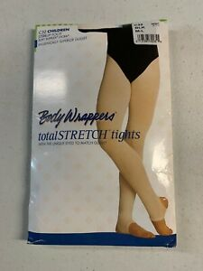 Black Bodywrappers Totalstretch Convertible Tights S//M CHILD