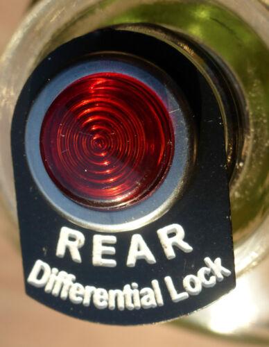 Land Rover Serie 2 2a 3 Lucas Traseras Led Luz Pestaña de Etiqueta de advertencia de bloqueo diferencial