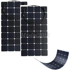 2x 100W Solarpanel Solarmodul Solarzelle Photovoltaik Monokristallin Wohnmobil
