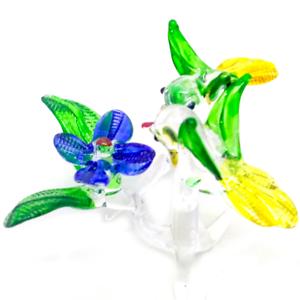 Tiny-birds-5-hand-blown-art-glass-miniature-figurine-crystal-dollhouse-animal
