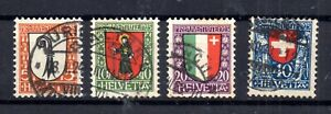 Switzerland-1923-Pro-Juventute-fine-used-set-J24-27-WS15665
